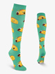 "Womens ""Happy Tacos"" Graphic Print Knee High Socks - Style No N052"