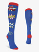 "Womens ""Girl Power"" Graphic Print Knee High Socks - Style No N079"